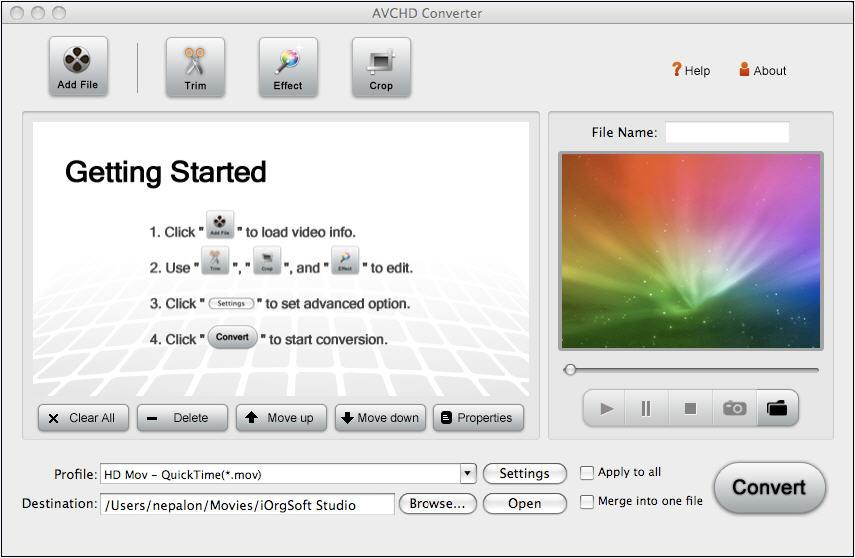AVCHD video converter for Mac convert mts, m2ts, ts, trp