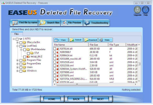 free recovery software for deleted video files