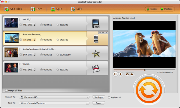 Convert and import MTS files to iMovie with MTS to iMovie Converter